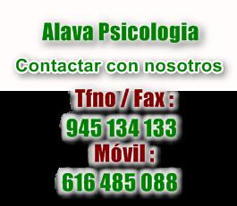 Contacto centro psicologico Alava psicologia
